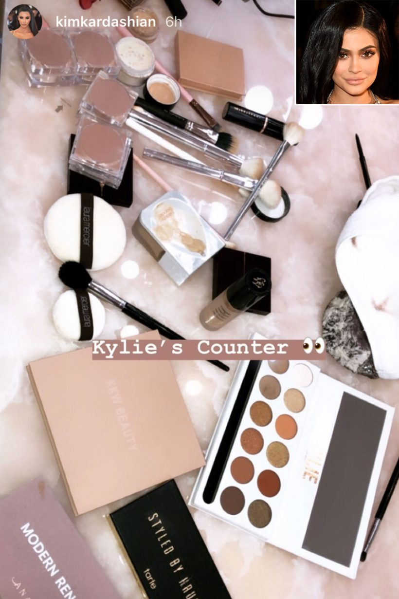 db29c6097a9 The Products Kylie Jenner Keeps on Her Makeup Counter (and More of the  Products Celebs Actually Use) | All Fashions
