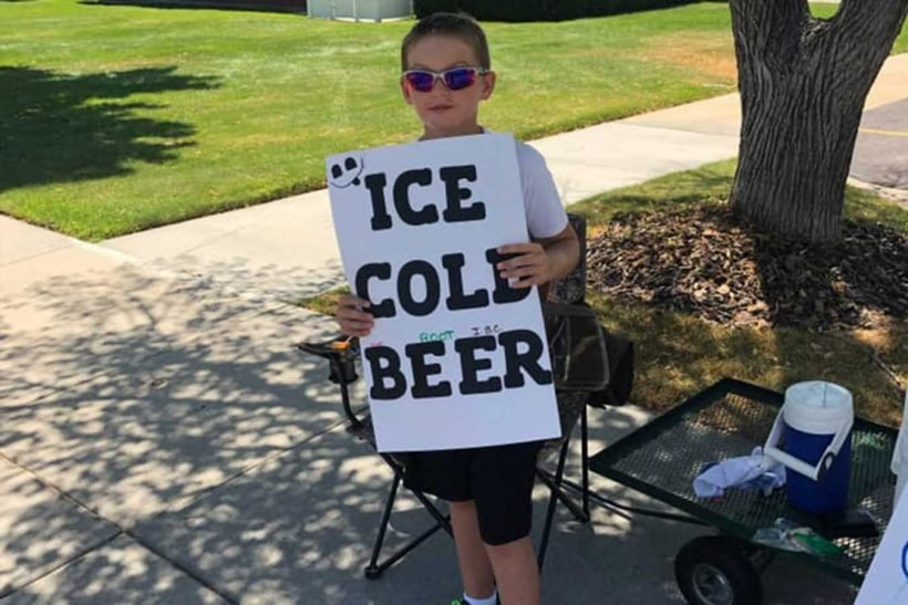 Image result for Boy, 11, Uses 'Ice Cold Beer' Sign to Sell Soda youtube